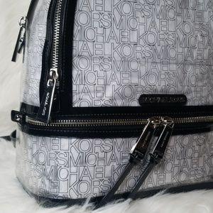 Michael Kors Bags - NWT MICHAEL KORS MK RHEA ZIP BACKPACK CLEAR BLACK